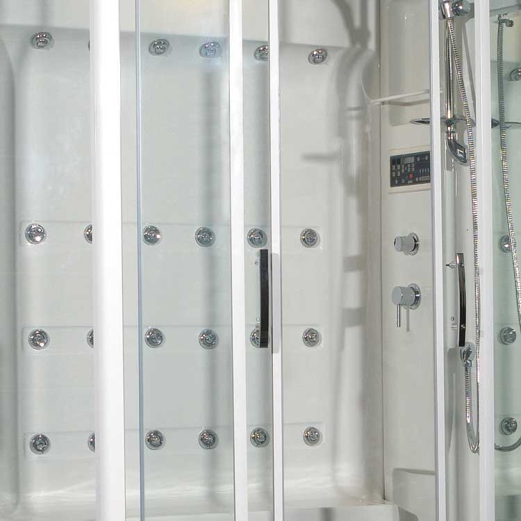 "Ariel Bath Sliding Door 52"" x 40"" x 86"" Steam Shower with Right Side Configuration 2"