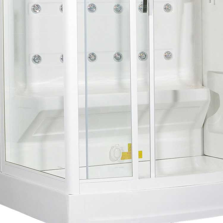 "Ariel Bath Sliding Door 52"" x 40"" x 86"" Steam Shower with Right Side Configuration 6"