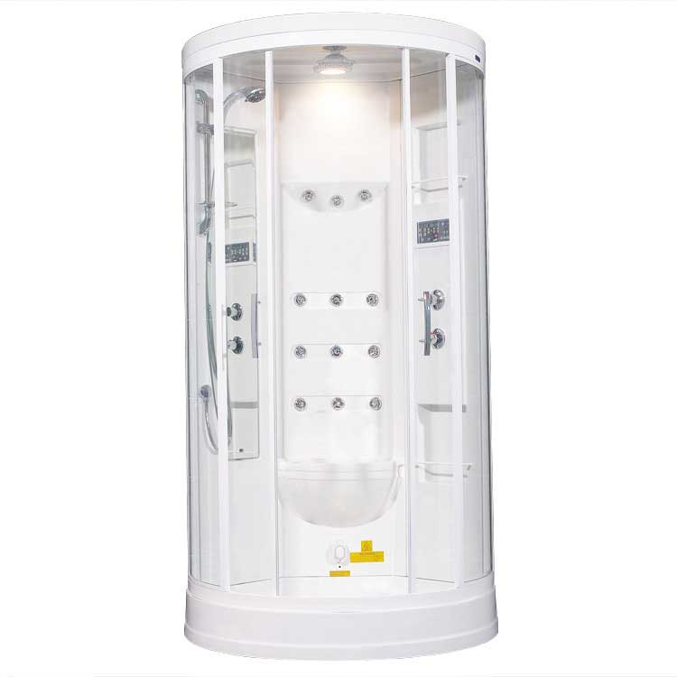 "Ariel Bath Sliding Door 85"" x 40"" x 40"" Steam Sauna Shower with Bath Tub 2"