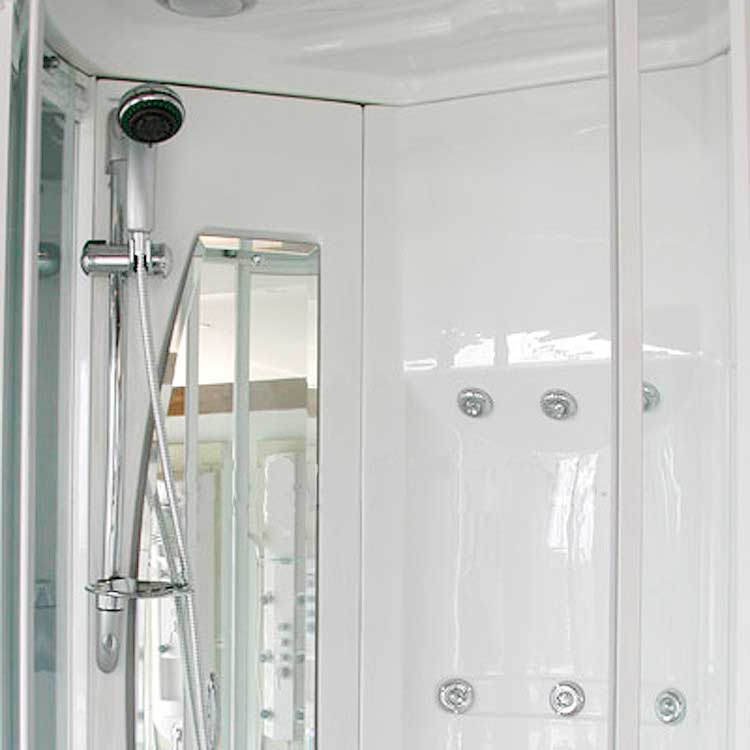 "Ariel Bath Sliding Door 85"" x 40"" x 40"" Steam Sauna Shower with Bath Tub 5"