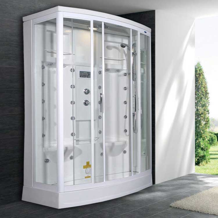 "Ariel Bath Sliding Door 85"" x 56"" x 38"" Steam Shower with Right Side Configuration"