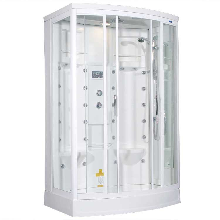 "Ariel Bath Sliding Door 85"" x 56"" x 38"" Steam Shower with Right Side Configuration 2"