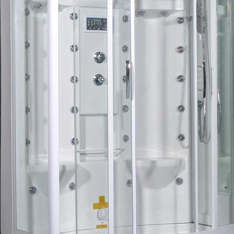 "Ariel Bath Sliding Door 85"" x 56"" x 38"" Steam Shower with Right Side Configuration 4"