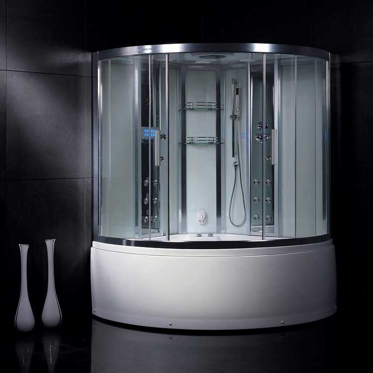 Ariel Bath Platinum 3 kW Steam Shower with Whirlpool Bathtub