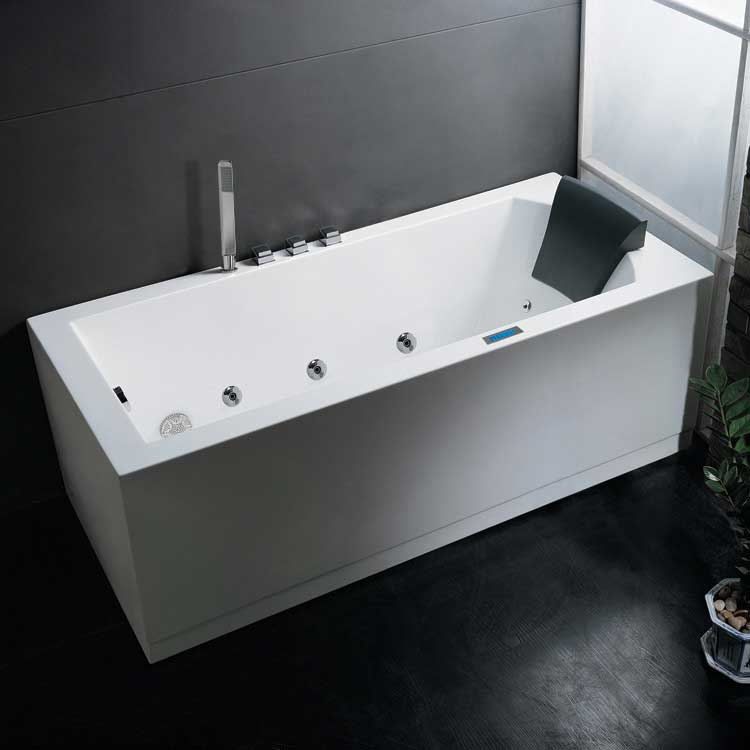 "Ariel Bath Platinum 70"" x 25"" Whirlpool Bathtub"