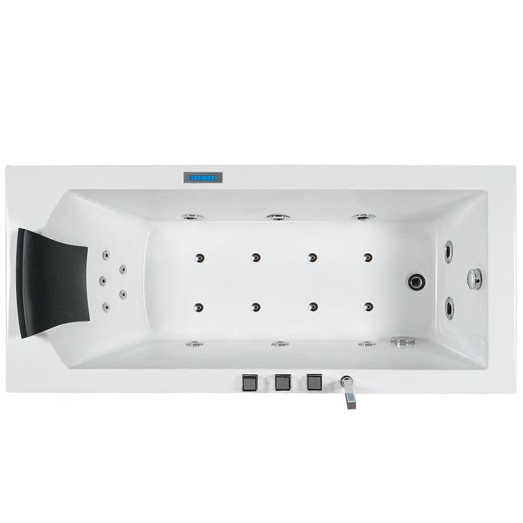 "Ariel Bath Platinum 70"" x 25"" Whirlpool Bathtub 2"