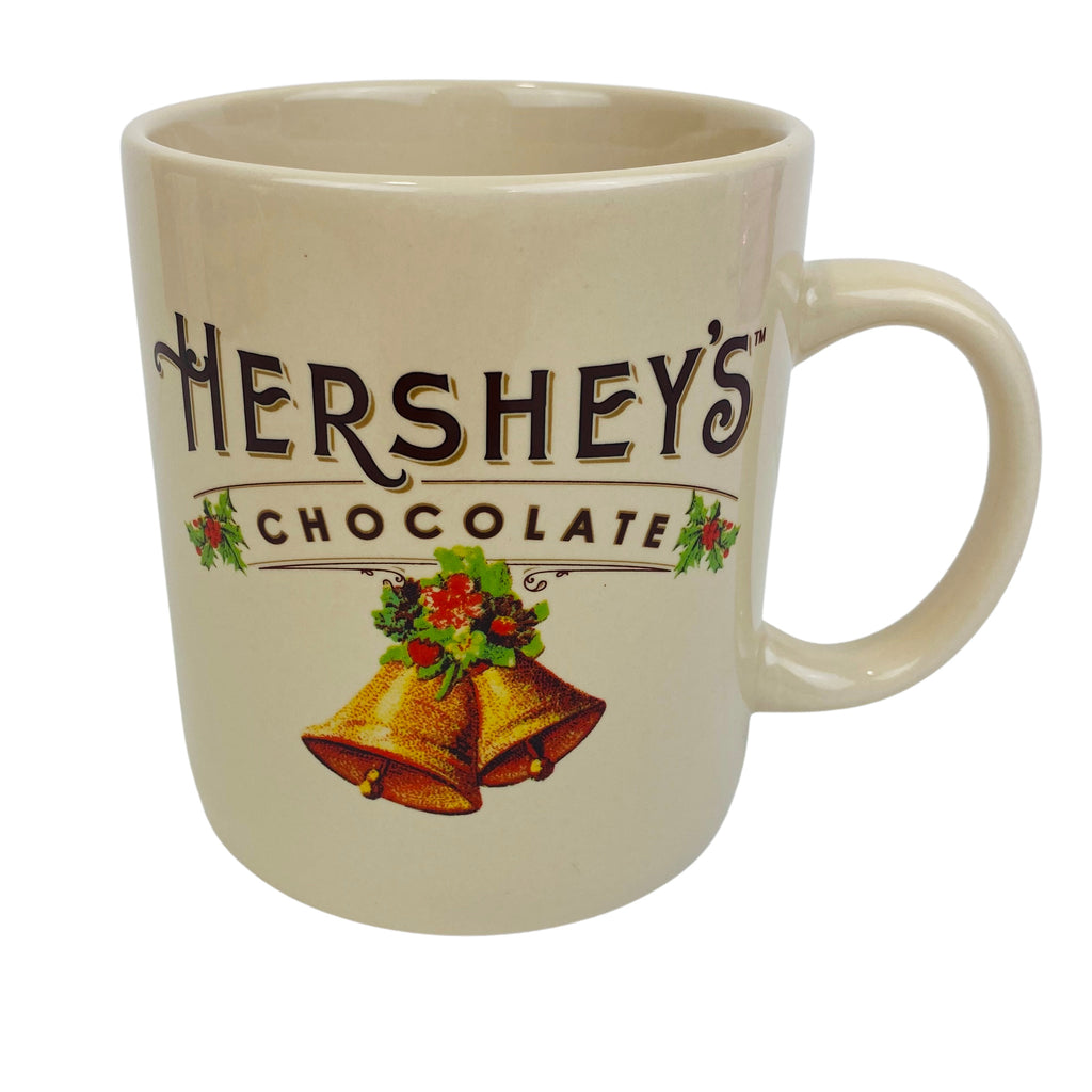 HERSHEY Chocolate Christmas Bell Ceramic Mug Galerie edition 28 Oz. (Pre-Loved)