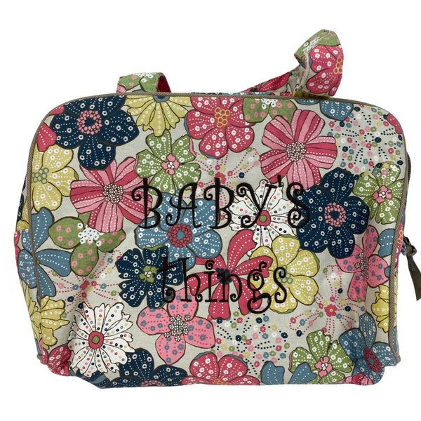 "THIRTY-ONE ""Free Spirit Floral"" Baby Bag and a  *FREE* ""Ditzy Organic Flower"" Bib (NEW) Retired Print"