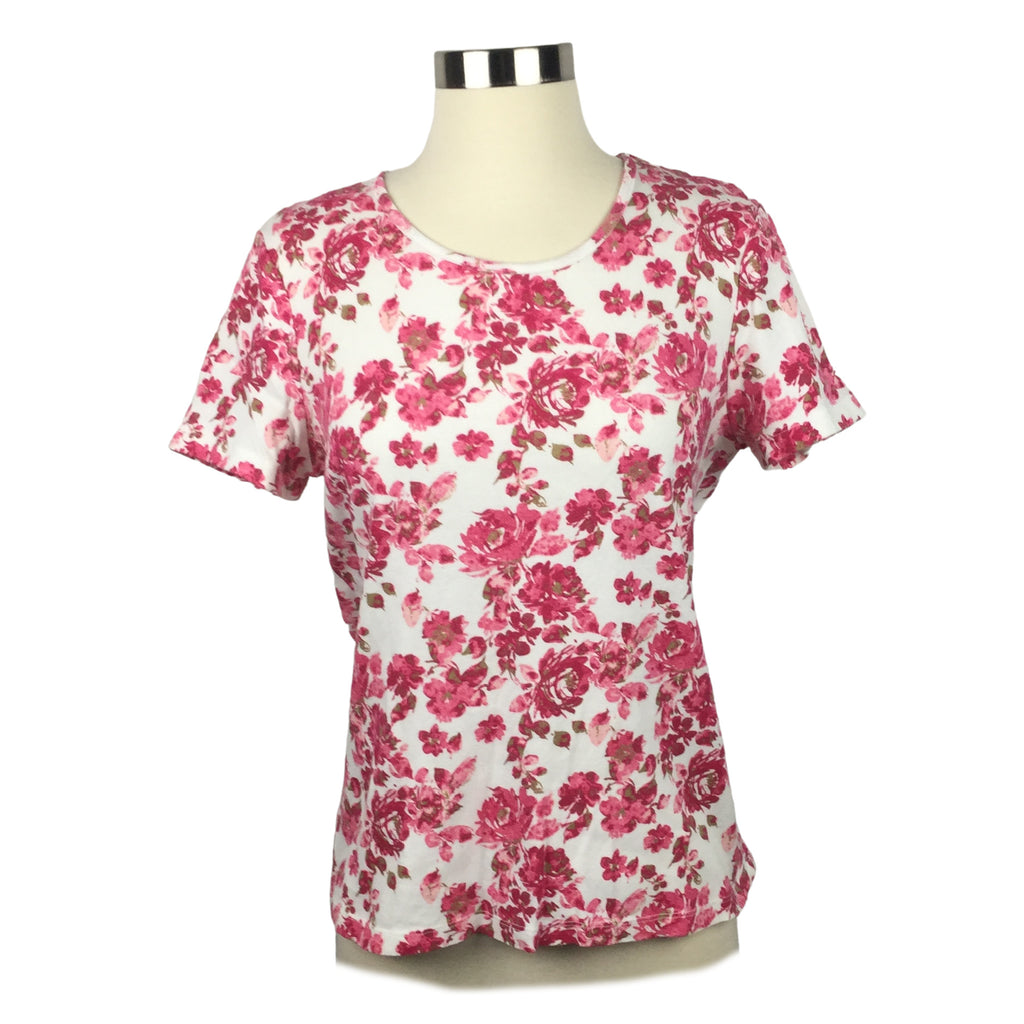 WHITE STAG Hot Pink Rose Top (Pre-Loved)