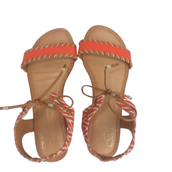 DOLCE VITA DV8 Orange Boho Tie Sandals. (Pre-Loved)
