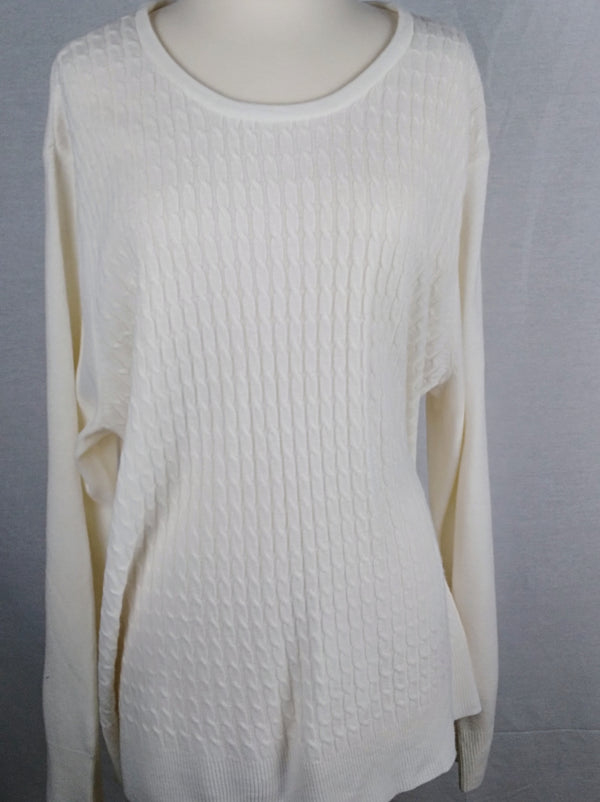 Napa Valley Pullover Plus Size Sweater (Preloved) Curvy Ladies - Evonnistore