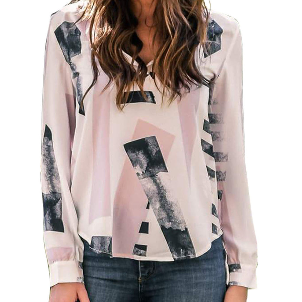 Pink Pullover with Smoke colored Dress Shirt - Evonnistore
