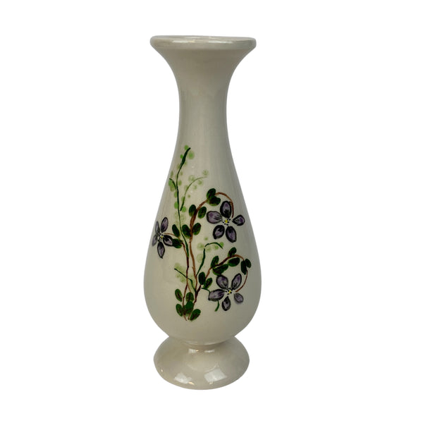 Little Bud Vase with Purple Flowers