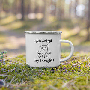 Enamel Mug 12oz - Octopus Love