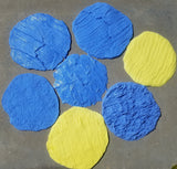 "Best Concrete Stone Stamp Kit - 7 BEAUTIFUL 12"" ROUND ROCK TEXTURE STAMPS"