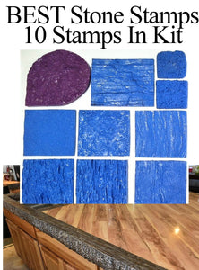"Best Concrete Stone Stamp Kit - SMALL HAND STAMPS 7"", 6"", 3"""