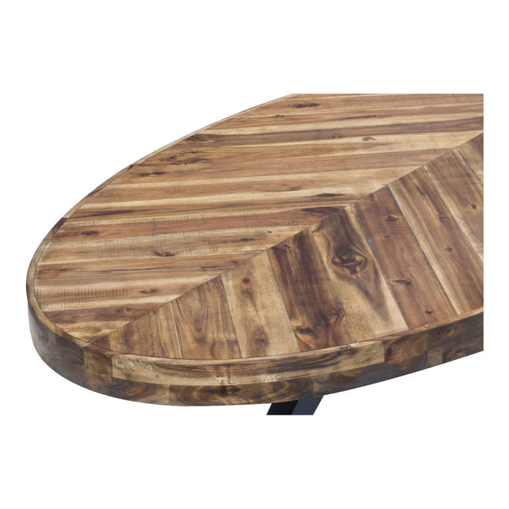 Slab Oval Coffee Table