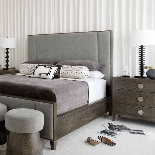 Linea Upholstered Panel Bed - Modern Studio Furniture