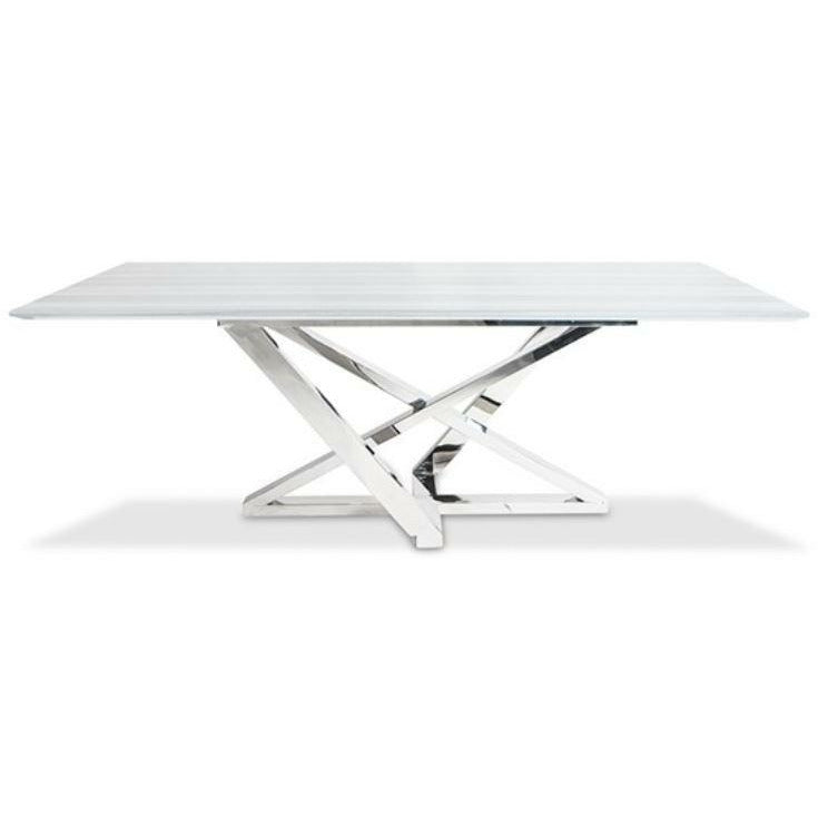 INGRID DINING TABLE with MARBLE TOP - Modern Studio Furniture