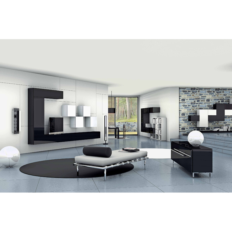 The Black and White Wall Unit - Modern Studio Furniture