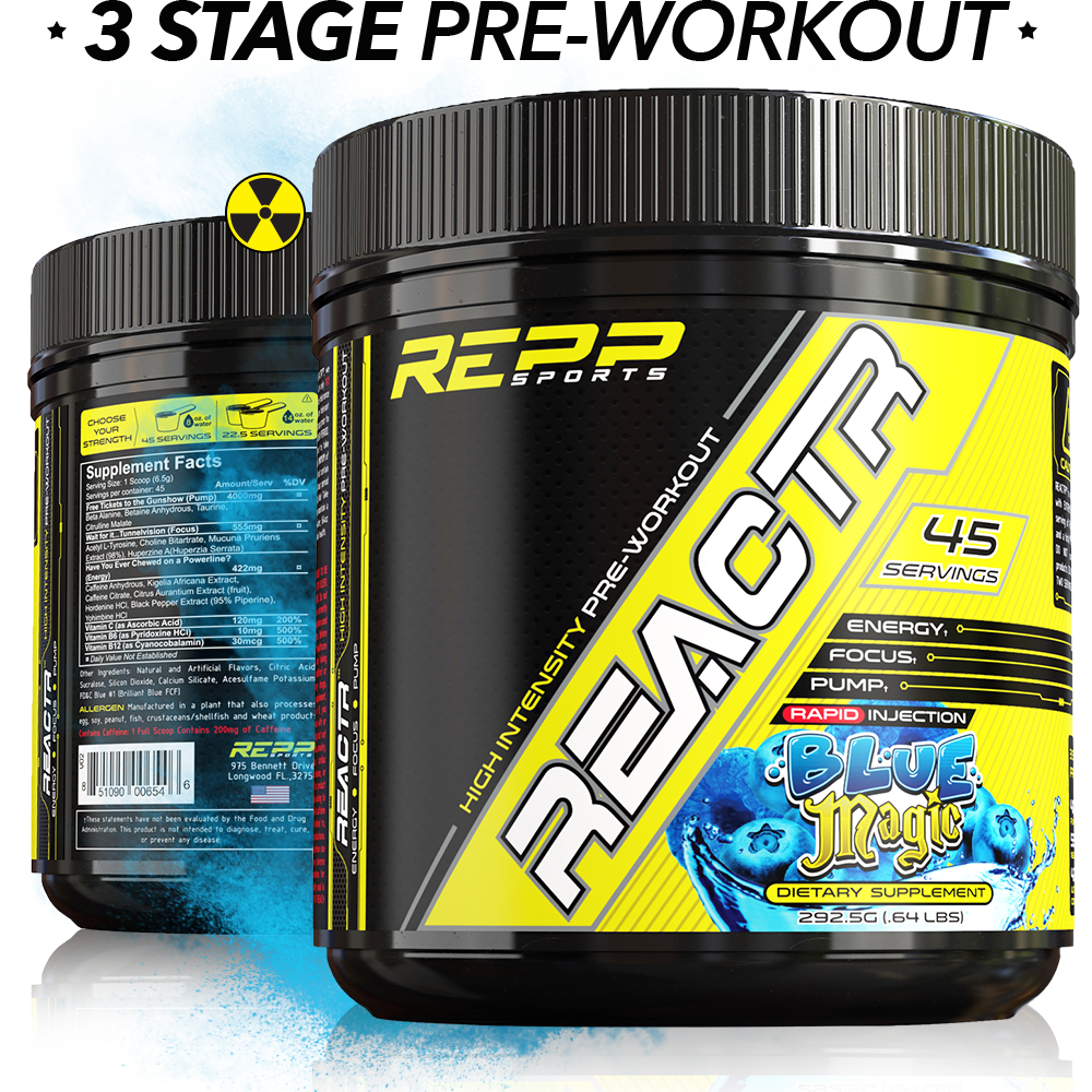 REACTR™ EXPLOSIVE PREWORKOUT - North Shore Nutrition Corner
