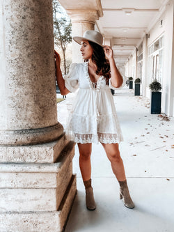 Sweet Heaven Mini Dress - Ivory