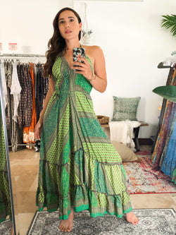 Gypsea Boho Maxi Dress - Green Mix