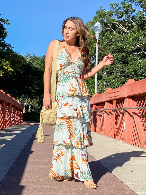 Flowering Romance Tiered Maxi Dress