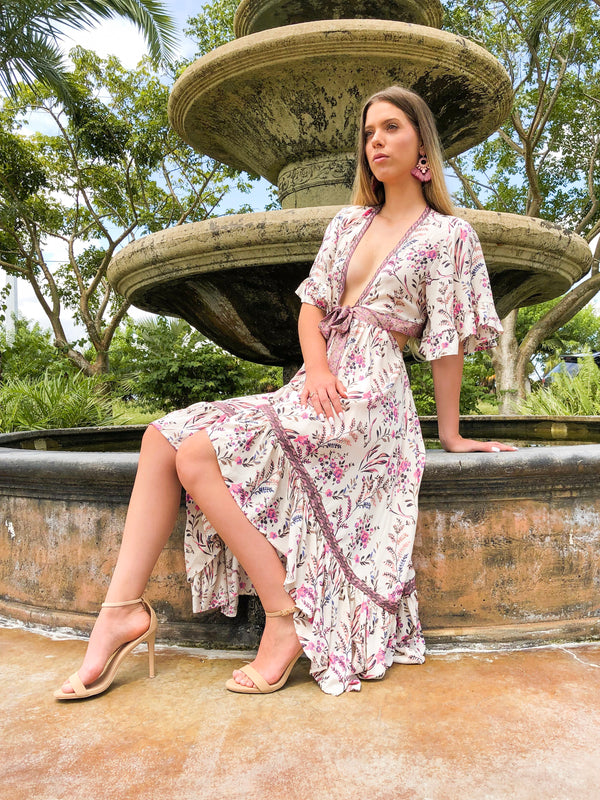 Dolly High-Low Floral Dress