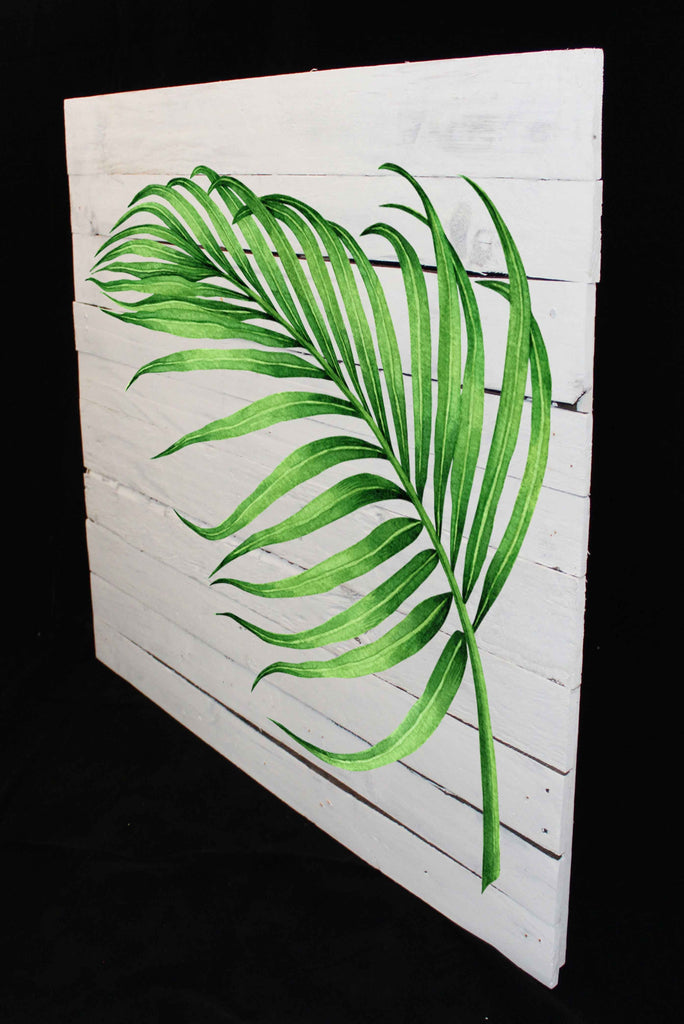 Reclaimed Wood Print - New Product Pine leaf (Reclaimed white wood)  - Andrew Lee Home and Living Homeware