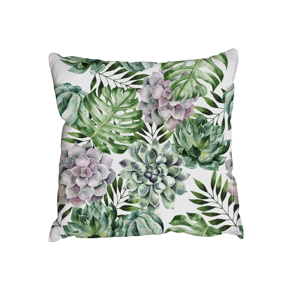 New Product Watercolor tropical plants (Cushion)  - Andrew Lee Home and Living Homeware