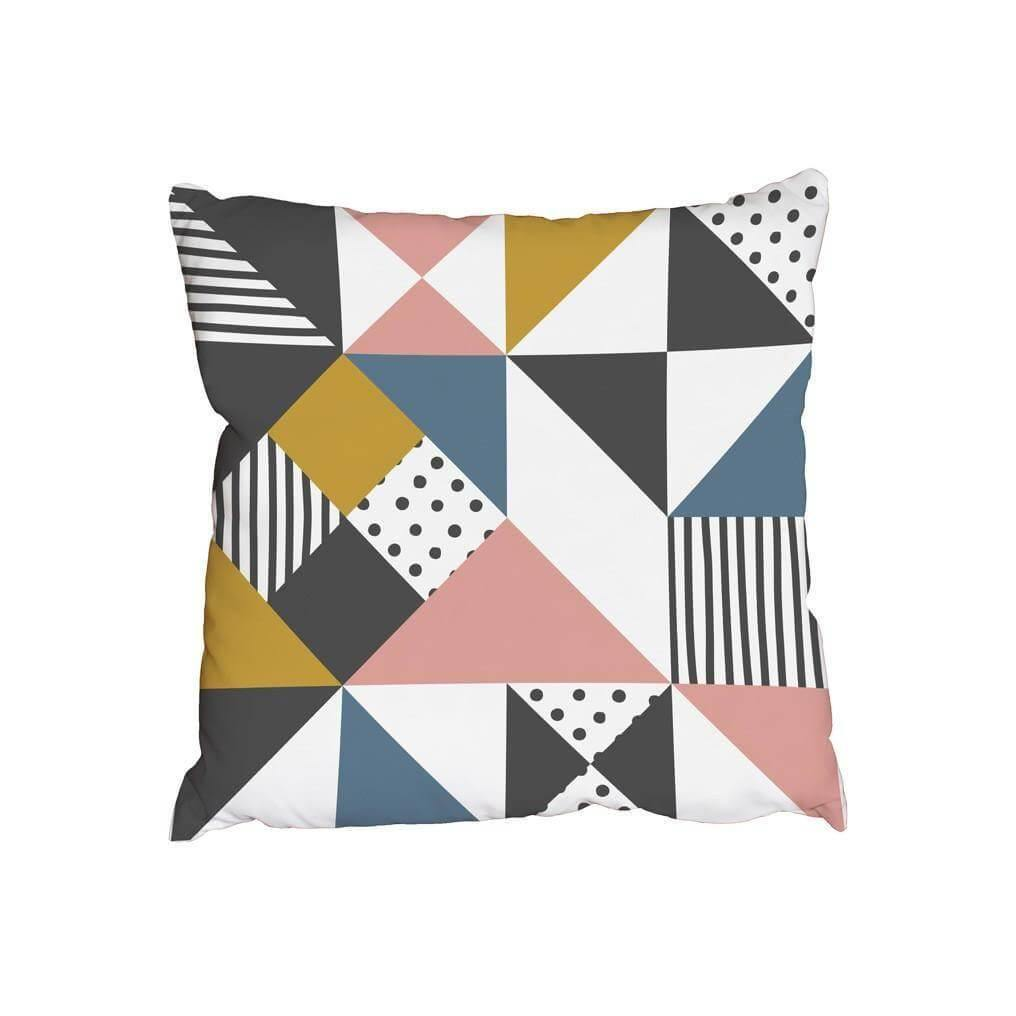 New Product Abstract triangle and drawn stripe (Cushion)  - Andrew Lee Home and Living