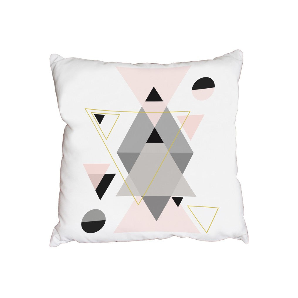 New Product Pink and Grey shapes (Cushion)  - Andrew Lee Home and Living