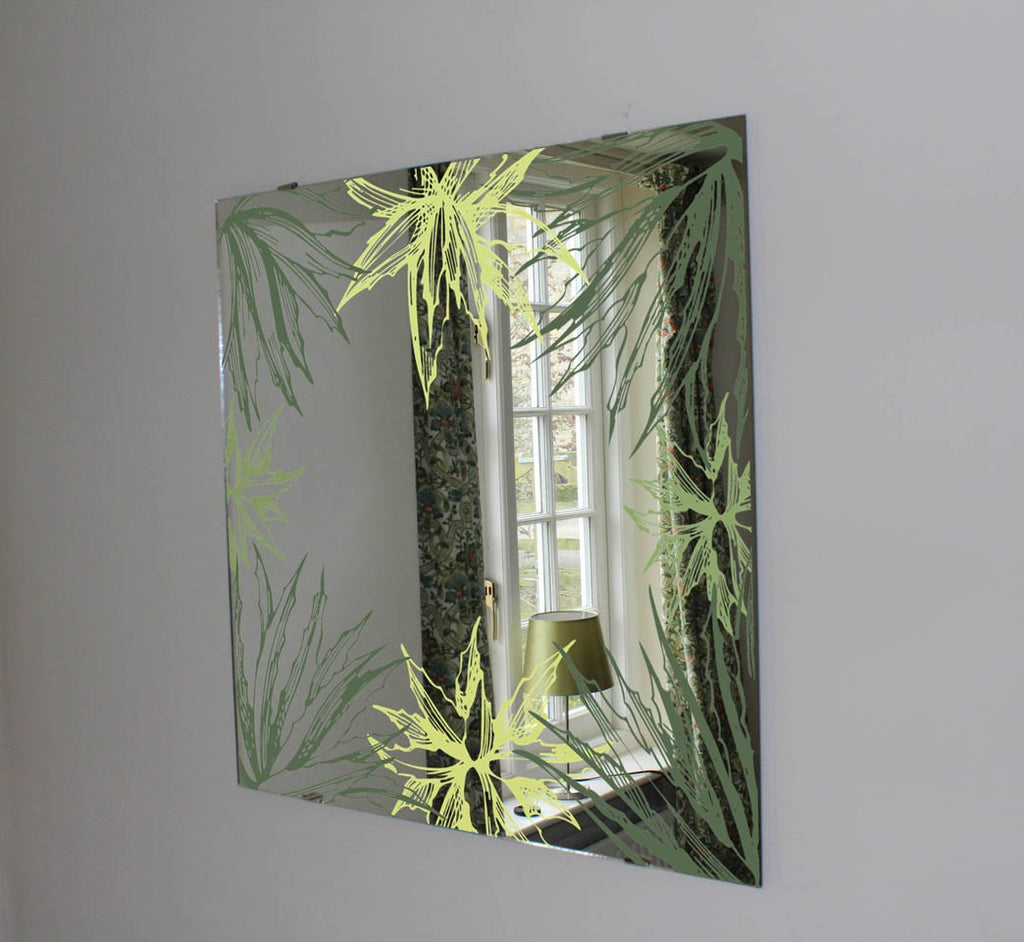 New Product Botanical Aloe (Mirror Art Print)  - Andrew Lee Home and Living