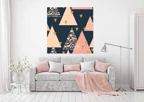 New Product Triangle trend (Canvas print)  - Andrew Lee Home and Living