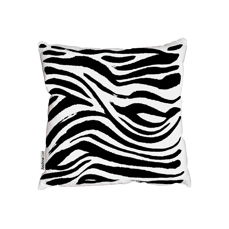 New Product Hand painted Zebra animal print (Cushion)  - Andrew Lee Home and Living