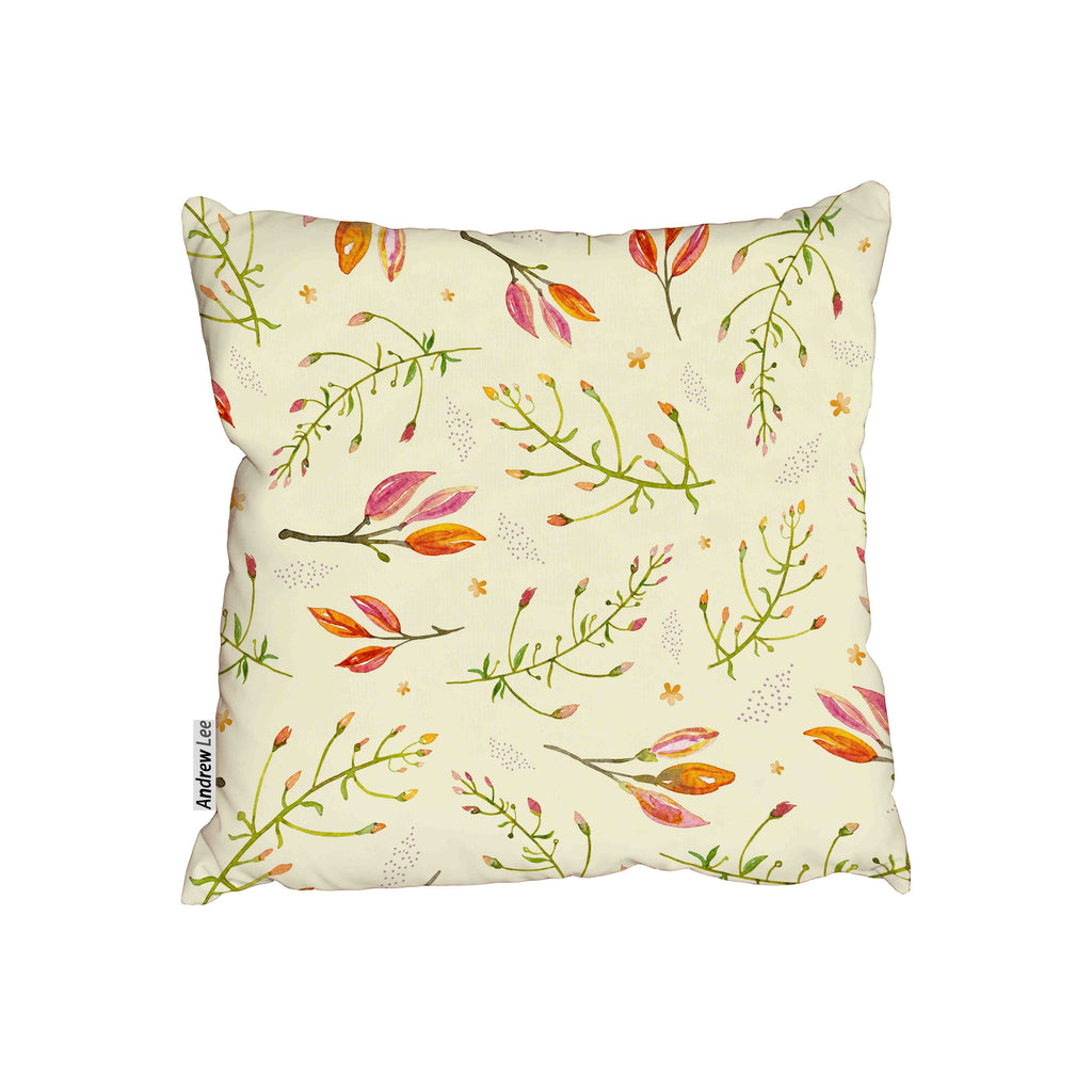 New Product Seamless green branches and flower buds (Cushion)  - Andrew Lee Home and Living