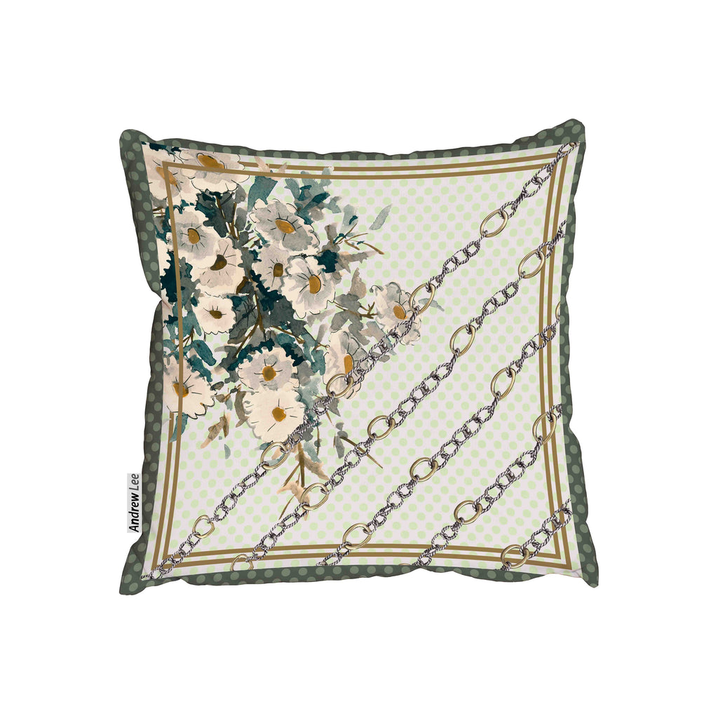 New Product Scarf and chain Flowers pattern (Cushion)  - Andrew Lee Home and Living