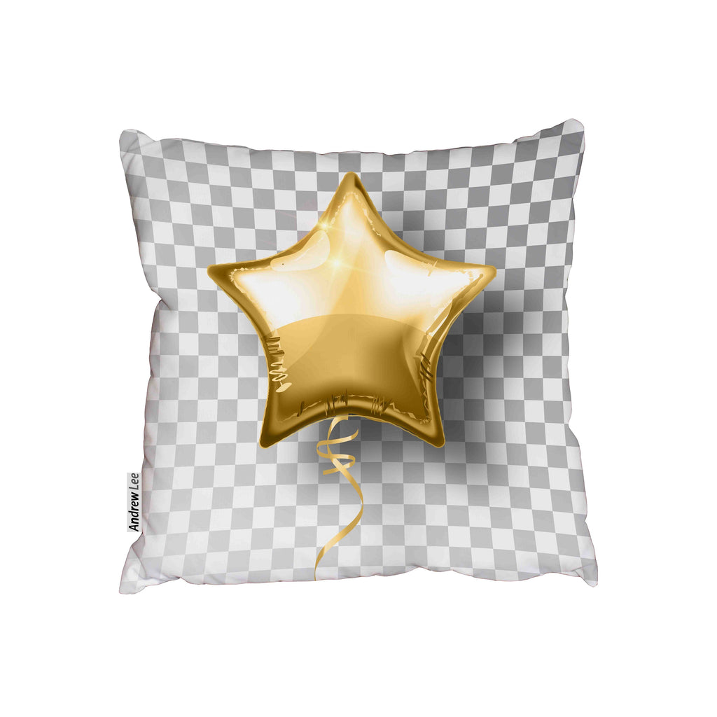 New Product Star gold balloon on transparent background (Cushion)  - Andrew Lee Home and Living