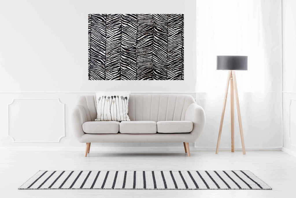 New Product Zebra Animal print (Canvas Print)  - Andrew Lee Home and Living