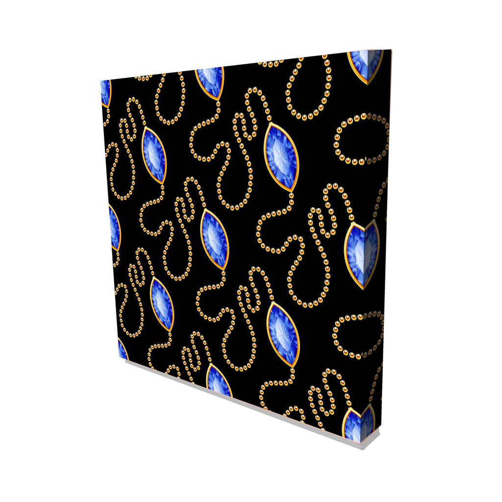 New Product Golden chains and gemstones (Canvas Prints)  - Andrew Lee Home and Living