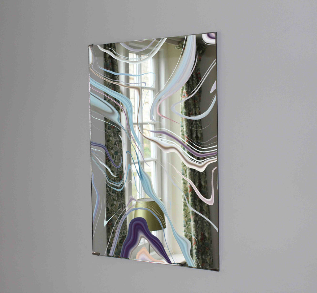 New Product White Gray marble (Mirror Art print)  - Andrew Lee Home and Living