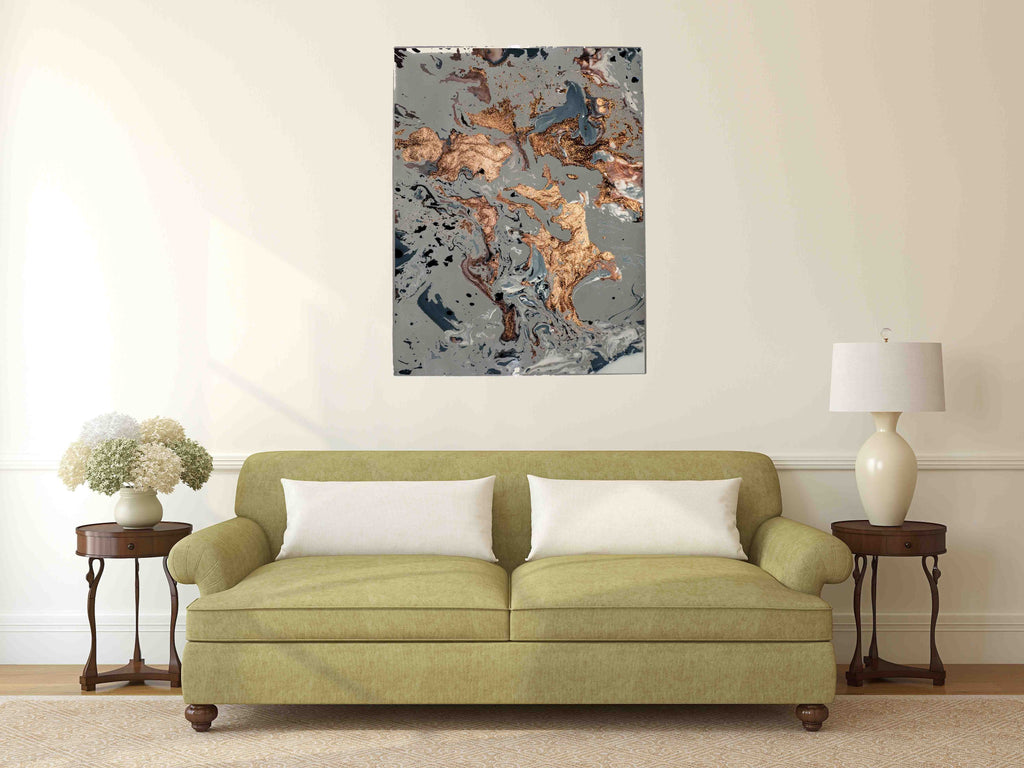 New Product Ink marbling art texture design (Mirror Art print)  - Andrew Lee Home and Living