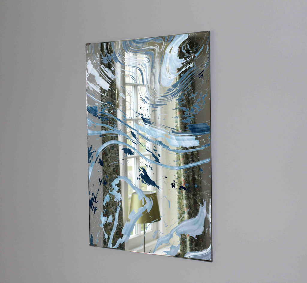 New Product Dark blue marble (Mirror Art print)  - Andrew Lee Home and Living