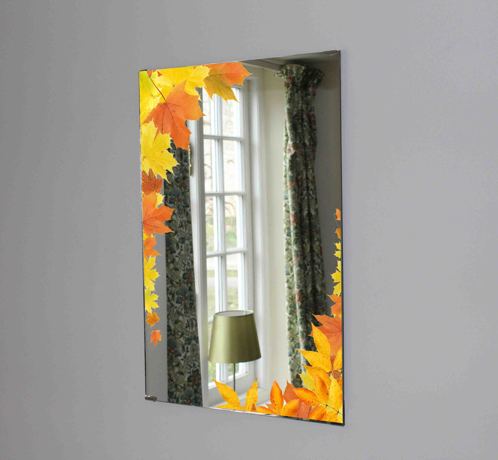 New Product Falling maple leaves (Mirror Art print)  - Andrew Lee Home and Living