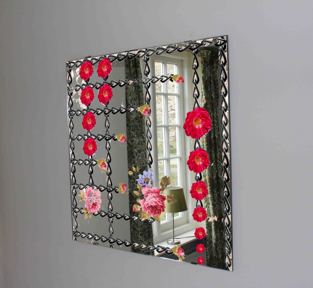 New Product Chains and roses (Mirror Art print)  - Andrew Lee Home and Living