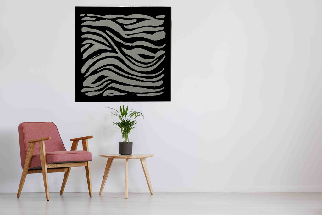 New Product Hand drawn Zebra print (Mirror Art print)  - Andrew Lee Home and Living