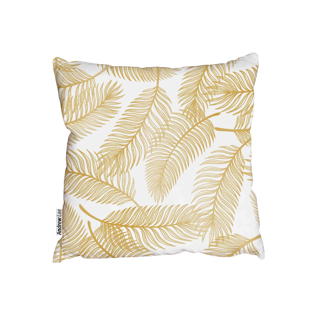New Product Golden Tropical Palm Tree Leaves (Cushion)  - Andrew Lee Home and Living