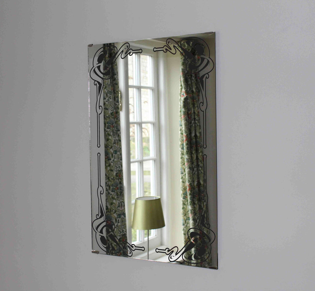 New Product Art nouveau vintage frame (Mirror Art print)  - Andrew Lee Home and Living
