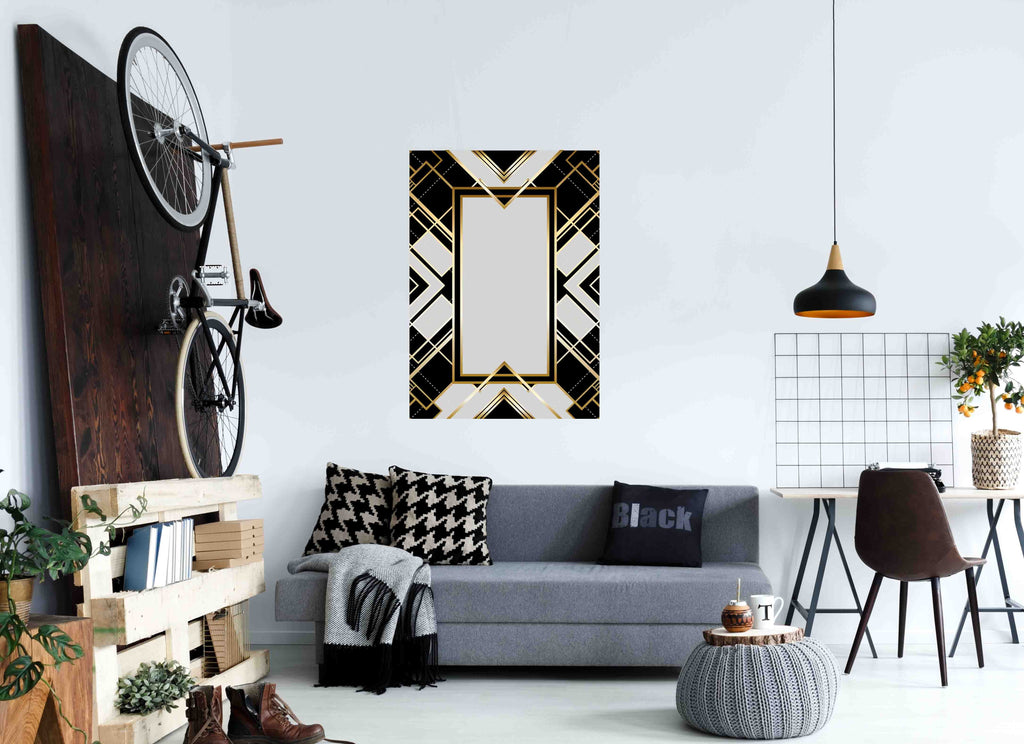 New Product Retro pattern for vintage party (Mirror Art print)  - Andrew Lee Home and Living